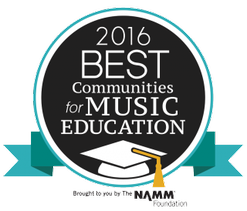 Fort Atkinson is one of the school districts chosen for Best Communities for Music Education (BCME)!