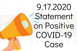 9.17.2020 Statement on Positive COVID-19 Case